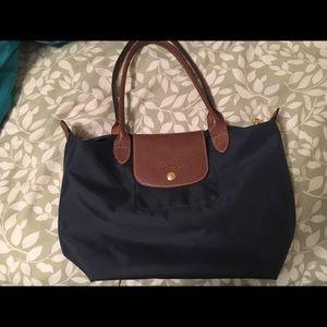 Longchamp small navy blue bag